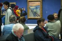 艺术家爱德华蒙克在尖叫画中留下了秘密